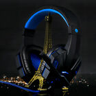 3.5mm Surround Stereo Gaming Headset Headband Headphone with Mic for PC LOT J0