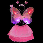 Kids Girls Fairy Butterfly Wings Fancy Dress Party Costume 3/4Pcs Set Cosplay