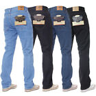 New Mens KRUZE Basic Straight Leg Regular Fit Denim Work Classic Work Jeans