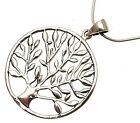 Ladies 925 silver tree of life pendant and 16 inch snake chain