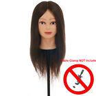 """22"""" 90% Real Hair Practice Training Mannequin Head Hairdressing with Clamp"""