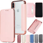Plating Soft Silicone PU Leather Wallet Full Cover Case Skin for Apple iPhone X