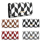 LYDC Multi Mosaic Two Tone Edge Faux Leather Wallet Zip Purse PL438