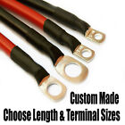 70 Amp Car, Camper Power Earth Cable Choose Colour Length Terminal Hole Sizes