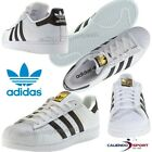 SCARPA SUPERSTAR ADIDAS ORIGINALS C77154 BIANCO/NERO DONNA UOMO CASUAL SPORT