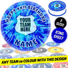 Football Cake Topper, Round, Personalised, Printed on Icing