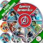 a. Avengers Personalised Round Cake Topper in 3 sizes
