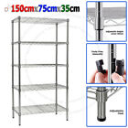 Real Chrome Wire Rack Metal Steel Kitchen Garage Store Shelving Shelf Racks <br/> Real Carbon Steel &amp; Chrome Plated - NOT Silver Painted