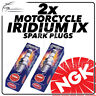 2x NGK Upgrade Iridium IX Spark Plugs for HONDA 125cc CA125S 95->99 #7274