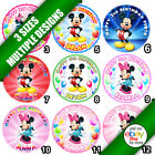 Mickey Minnie Mouse Edible Icing Sheet Cake Round Circle Topper in 3 sizes b