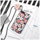 Cute Cartoon Daisy Flower Back Soft Cover Case For Apple iPhone 6 7 8 Plus+Strap