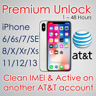 SEMI PREMIUM FACTORY UNLOCK SERVICE CODE FOR AT&T ATT iPhone Xs Xr X 8 7 6s 6 5s