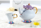 NEW Cartoon Beauty And The Beast Teapots Mug Mrs. Potts Chip Tea Pot and Cup Set