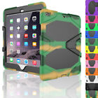 For iPad 9.7 2017 5th Gen Heavy Duty Hybrid Protective Rugged Armor Case Cover