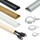 D-Line TV Electrical Cable Wire Tidy Plastic Cover Wire Hide Trunking PVC Dline <br/> VAT INVOICE | WHITE, BLACK, MAGNOLIA, WOOD, ALUMINIUM