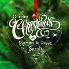 Personalised Christmas Decoration Tree Ornament First Xmas  Bauble Gift Engrave <br/> UK Made , High Quality , Fast Delivery, FREE GIFT BAG !
