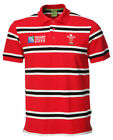 Mens Official RWC 2015 Welsh Rugby Stripe Polo Shirt