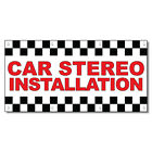 car installation shop - Car Stereo Installation Red Auto Car Repair Shop Vinyl Banner Sign /W Grommets
