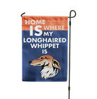 where to buy patio furniture covers - Home is where my LONGHAIRED WHIPPET DOG is Yard Patio House Banner Garden Flag