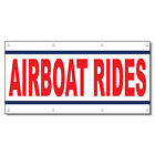 Airboat Rides Red 13 Oz Vinyl Banner Sign With Grommets
