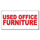 Used Occupation Furniture Red 13 Oz Vinyl Banner Sign With Grommets