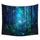 US Forest Art Tapestry Wall Hanging Bohemian Natural Scenery Mat Throw Blanket