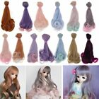 15cm Long DIY Ombre Curly Wave Doll Wigs Synthetic Hair 1/3 1/4 1/6 BJD SD Dolls