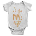 My Siblings Have Paws Babygrow Dogs Cats Funny Cute Present Gift Body Suit
