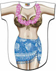 LA Imprints Women's Bathing Suit Cover Up, Blue Sarong T-shirt Lady's Fun Wear