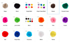 Crafting Pom Poms Various colors Various Sizes! Price Per Package 3.25 flat ship