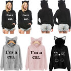 Hot Women Long Sleeve Hoodie Sweatshirt Sweater Hooded Jumper Coat Pullover Tops