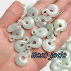 30PCS Certified natural Grade A jadeite jade pendant key ring TWIST Hollow out