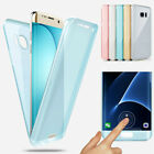 360 Degree Soft Silicone Gel TPU Clear Full Body Case Cover for Samsung Phone