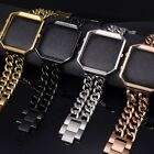 Replacement Stainless Steel Watch Bands+Metal Frame for Fitbit Blaze Smart watch