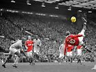 WAYNE ROONEY OVERHEAD FRAMED CANVAS ART PRINT A0 A1 A2