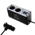 Aokland USB Car Charger, and 2-Socket Cigarette Lighter Power Adapter for iPhon