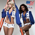 US Stock Ladies Dallas Cowboys Cheerleader Costume Sexy Fancy Dress up