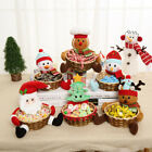 Christmas Candy Storage Basket Decoration Santa Claus Storage Basket Gift Decor
