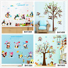 Penguin Monkey Home Room Decor Removable Wall Stickers Decals Decoration