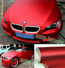 Full Roll - Metallic Satin Matte Chrome Red Film Vinyl Wrap Car Sticker Air Free