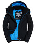 New Mens Superdry Pop Zip Hooded Technical Windcheater Jacket Black