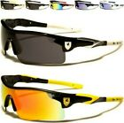 KHAN DESIGNER SUNGLASSES MENS LADIES SPORTS WRAP MIRRORED RUNNING GOLF CYCLING