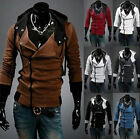 HOT Stylish Creed Hoodie Cool Slim men's Cosplay For Assassins Jacket Costume-XW