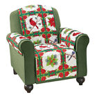 Holiday Birds And Evergreen Furniture Cover, by Collections Etc