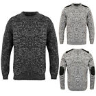 Dissident Mens Designer Eldon Jumper Crew Neck Two Coloured Twist Knitted Top