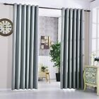 Silver Grey 100% Blackout Thermal Eyelet Curtains Heavy Fabric Bedroom Curtains