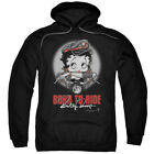 Betty Boop Born To Ride Pullover Hoodies for Men or Kids $37.3 USD