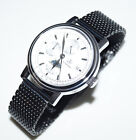 Stainless Steel Watch Band Strap Black 20mm for Chronograph and Watch