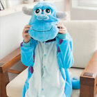 Sulley Monster Onesie11 Kigurumi Fancy Dress Costume Hoody Adult Cosplay Pajama