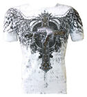 Konflic NWT Men's Holy Cross and Wings Emblem Graphic MMA Muscle T-shirt